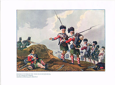 Bravery Of A Piper Of The 11th Highland Regiment Antique British Military Print
