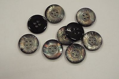 8pc 23mm Grey Mother of Pearl Mock Shell Coat Knitwear Cardigan Kid Button 3088
