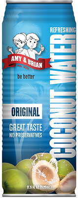 Local Pick Up Amy and Brian Coconut Water Original, 17.5 oz 2 for $5, 12 for $23