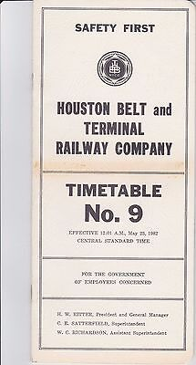 Houston Belt & Terminal - System - No 9 - May 1982