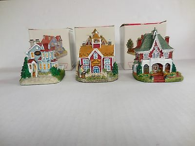 Liberty Falls Americana Collection Lot of 3 Houses with Boxes