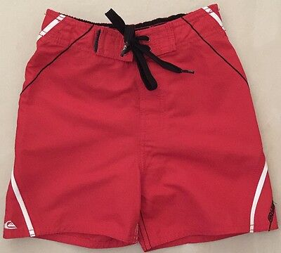 QUIKSILVER - Boys Toddler RED Swim Board Shorts - Size 3T