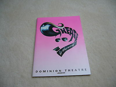 Programme - Musical Grease - 1996