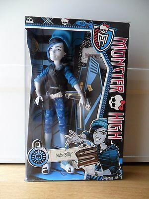 Monster High doll INVISIBILLY Scaremester new in box. Invisi Billy with diary