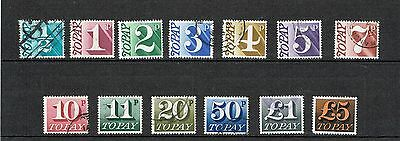 GB Stamps 1970-1975 Postage Due Used Set of 13 Stamps