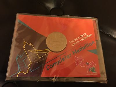 Official London 2012 Olympic 50p Sports Coin COMPLETER MEDALLION