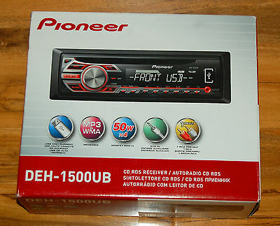 Pioneer DEH-1500UB  Car  USB  MP3 Player  AUX-IN  Stereo iPod iPhone Android
