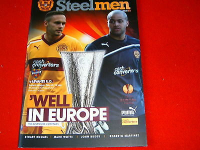Motherwell v Levante UD (Europa League)2012/13
