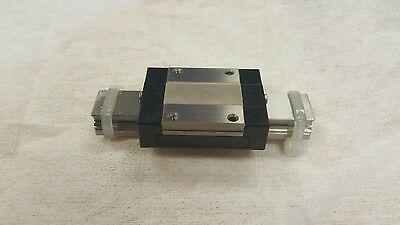 (1) INA LINEAR RAIL TKMD & (1) INA 87 V9 KUME 15c BALL BEARING BLOCKS 80mm