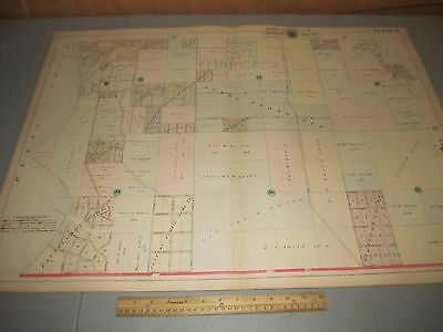 1908 Baist's Real Estate Atlas of Seattle Large Survey Plate 33 Rare Map