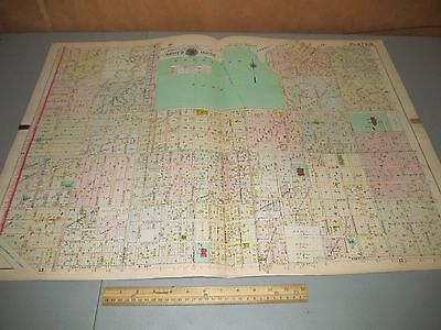 1908 Baist's Real Estate Atlas of Seattle Large Survey Plate 15 Rare Map