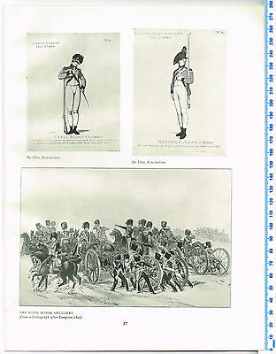 Covent Garden & Bethnal Green Volunteers Antique Military Picture Print
