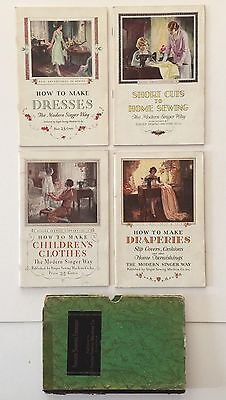 1928/29 Singer Sewing Machine Co. How To Booklets Dresses Draperies Clothes More