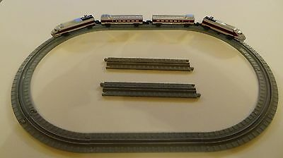 Micro Machines Silver Bullet Train and Carriages Oval Track VGC
