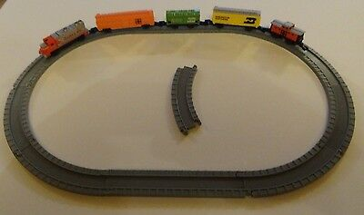 Micro Machines Santa Fe Train and Carriages Oval Track VGC