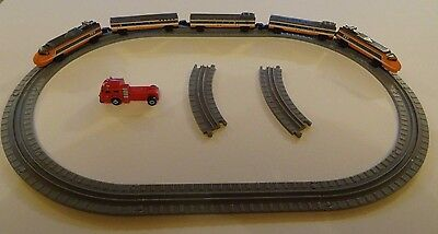 Micro Machines TGV High Speed Train Carriages Oval Track VGC