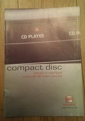 Seat Leon Ibiza Toledo Compact Disc Cd Changer Guide Manual 2002 Stereo