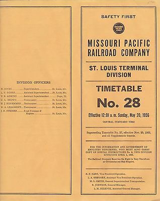 Missouri Pacific - St Louis Terminal Division - No 28 - May 1956