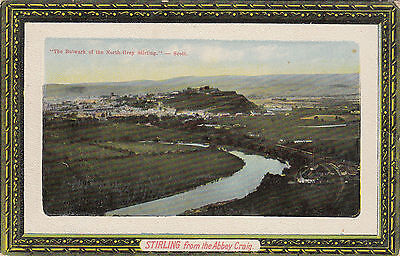 STIRLING  FROM THE ABBEY  CRAIG       Scotland  (b33)