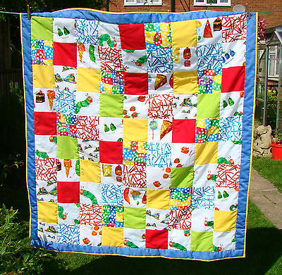 Handmade Patchwork Quilt Using Hungry Caterpillar Fabric Sale Price