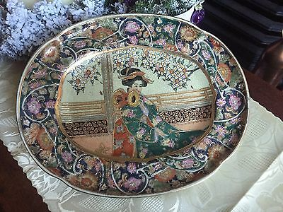 Large Japanese Plate With Makers Markings
