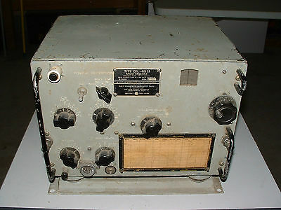 COLLINS USN COL-46159 TCS-12 RADIO RECEIVER has  NOISE LIMETER and MOUNTING BASE