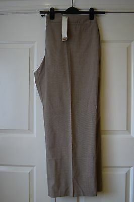 Beige Straight Leg Trousers Size 28 Bnwt Marks And Spencers