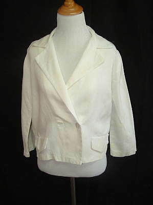 Vintage 1960s White  Jacket by Glentex sz. M