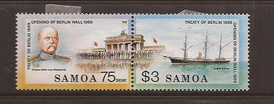 Samoa 1989 Berlin Wall Mint Set Of Stamps