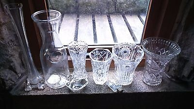 Job lot glassware - cut glass, vases and ornaments