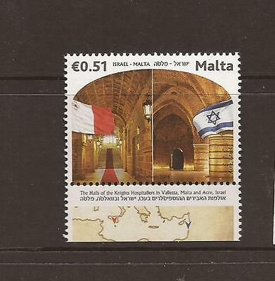 Malta 2014 Joint Issue With Israel Mnh Stamp