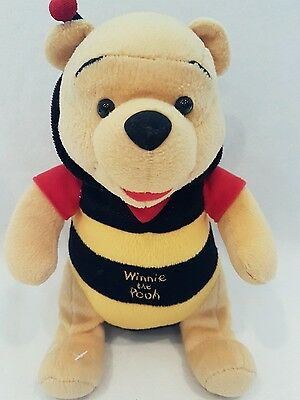 """large winnie the pooh bear as bee plush soft toy disney store 10"""""""