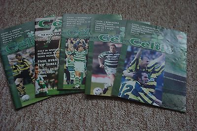 5 Different Celtic Home Programmes 1995/96 Uefa Cup And Friendly Matches