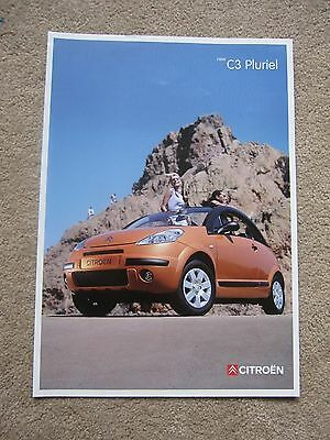 Citroen C3 Pluriel intro brochure - 2002