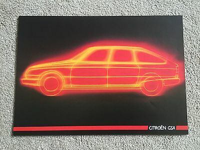 Citroen GSA brochure 1986 - French text