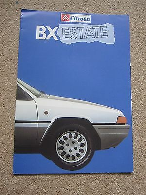 Citroen BX Estate brochure 1985