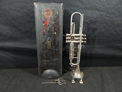 Vega Charles E. George Standard Model Trumpet PAT. DEC.1915 SERIAL(23543) & CASE