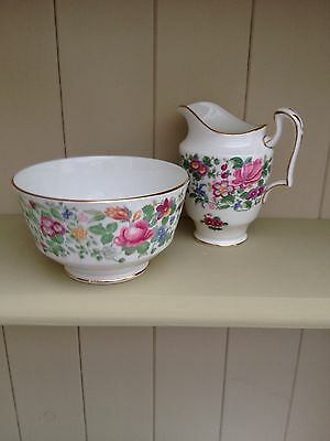 Crown Staffordshire Thousand Flowers (Pattern 7117) Sugar Bowl & Jug