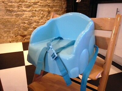 Safety 1st First Basic Booster Seat Travel High Chair Safe with Harness Boy Blue