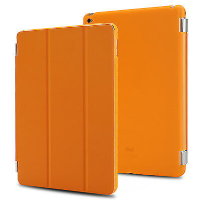 Orange Luxury Flip Leather Smart Magnetic Stand Cover Case for Apple iPad Air 2
