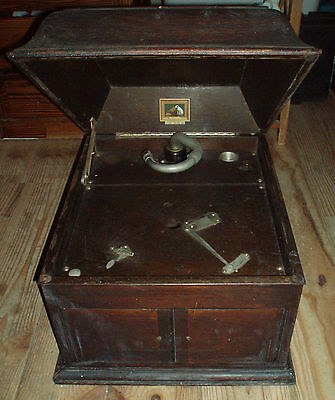 "Caisse gramophone ""his master voice 103"" sans moteur type Victor victrola"