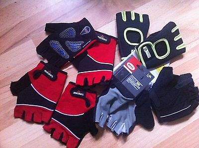 Job lot of 5 pairs of cycling exercise fitness gloves mens womens unisex L - XL