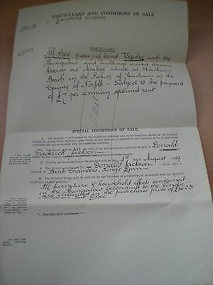 Particulars & Conditions Of Sale Of A Bungalow In Heacham Norfolk In 1929
