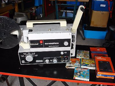 Super 8MM Sound Projector Eumig 820 Sonomatic with Films and splice Kit