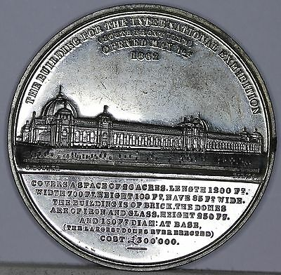 Victoria. International Exhibition Medal, 1862. South Front View by Dowler. Rare