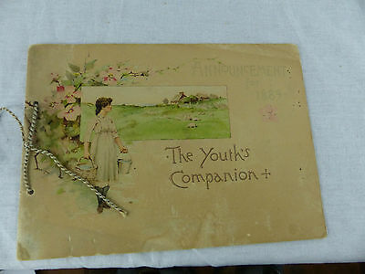old antique advertising brochure 1889 the youths companion annoucement booklet
