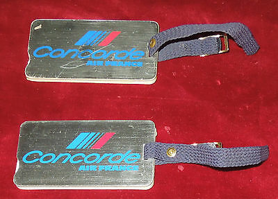 2 Air France Concorde Luggage Tags