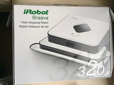 iRobot Braava 320 Floor Mopping Robot, White - Robotic Sweeping Cleaner in Box