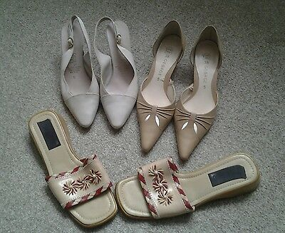 ladies shoes size 5, 3 pairs,
