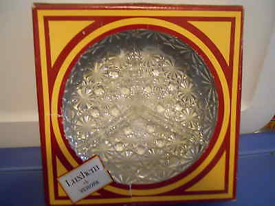 """Luxhem de Veropa French Crystal RELISH TRAY Hors d'oeuvres 3 Sections 7"""" NIB"""